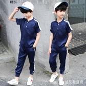兒童裝男童夏裝套裝2019新款洋氣中大童夏款男孩休閒短袖兩件套潮 TR767『寶貝兒童裝』