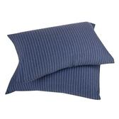 HOLA 自然針織條紋 美式枕套 2入 現代藍
