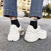 超火的鞋子季運動鞋男女情侶小臟鞋新品厚底復古做舊老爹鞋【中秋節好康搶購】