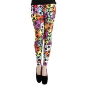 【摩達客】英國進口Pamela Mann Ava彩色骷髏 彈性內搭褲打底褲鉛筆褲(60114083025)