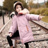 雙十二狂歡 女童冬裝洋氣棉襖外套兒童韓版中長款毛領棉衣羽絨棉加厚保暖棉服 挪威森林