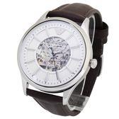 EMPORIO ARMANI時尚鏤空錶盤自動上鍊機械腕錶45mm(AR1946)270316