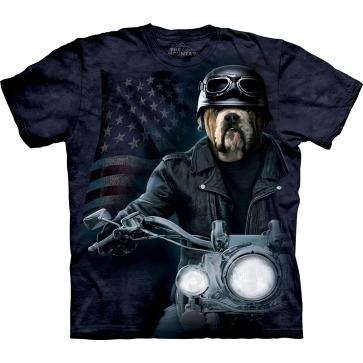 【摩達客】 (預購) 美國進口【The Mountain】自然純棉系列 犬騎士 設計T恤(10411045089a)