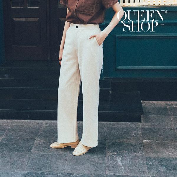 Queen Shop【04080135】棉麻直筒長褲 兩色售 S/M/L/XL*現+預*