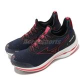 Mizuno 慢跑鞋 Wave Rider Neo 美津濃 黑 紅 運動鞋 男鞋【PUMP306】 J1GC2078-09