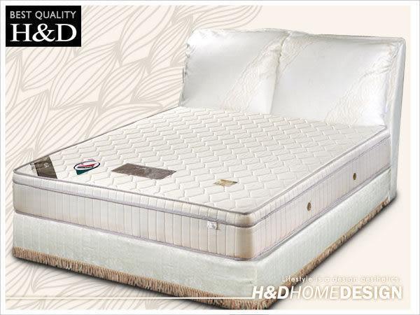 床墊 獨立筒 日式透氣三線3M防潑水5尺雙人獨立筒床墊 / H&D東稻家居