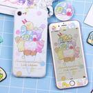 角落生物手機殼-日本卡通角落生物手機殼蘋果iphoneX蘋果8plus硅膠可愛全包6s軟殼 七色堇