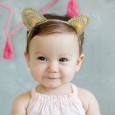 刺繡金絲立體貓耳髮帶 兒童髮飾 貓咪 貓耳 造型髮帶