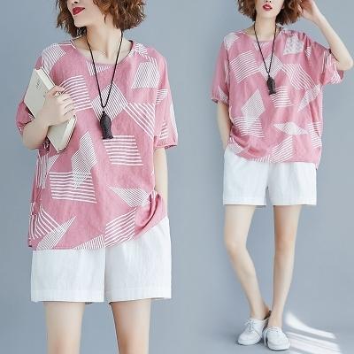 棉衫T恤~2754#清新短袖T恤上衣 N6101C衣時尚