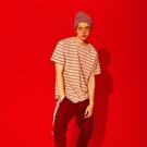 女生條紋舒適體恤小眾T恤 潮流時尚歐美韓版T恤 男生原創設計T恤 2021寬鬆情侶短袖T恤