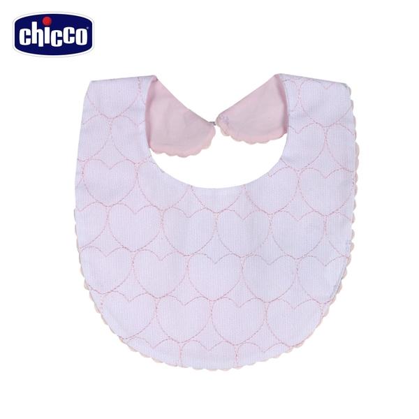 chicco-愛心小兔-愛心刺繡圍兜