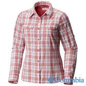 Columbia 女 防曬40快排長袖襯衫 紅色 UAK14980RD【GO WILD】