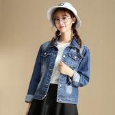 牛仔外套女年新款寬鬆顯瘦學生長袖牛仔服上衣