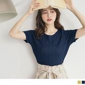 《FA2220-》輕薄涼爽麻花織紋細針織合身上衣 OB嚴選