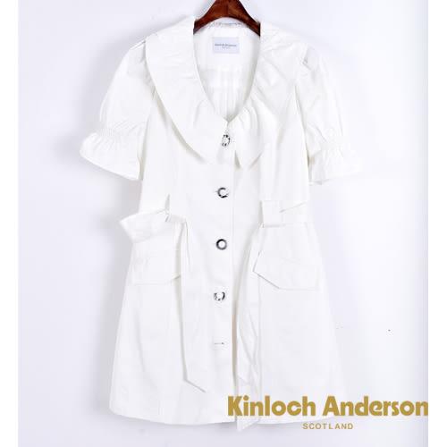 Kinloch Anderson金安德森 領抽皺五分袖外套 / 洋裝  ( 3色 ) 附本布腰帶