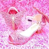 女童涼鞋2020新款韓版夏季兒童高跟鞋小女孩水晶鞋時尚軟底公主鞋 小城驛站