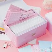 韓版創意唯美小清新盒裝同學錄帶鎖鐵盒中小學生畢業女復古紀念冊 怦然心動