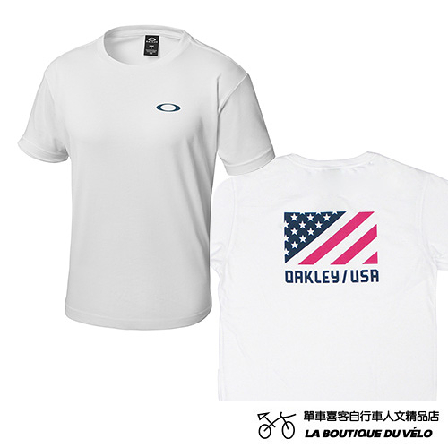 OAKLEY ENHANCE TECHNICAL TC TEE.18.02 日本限定版 休閒舒適短袖T恤 國旗圖樣