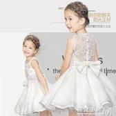 女童禮服裙小女孩花童婚紗演出服兒童公主裙夏蓬蓬新款春裝洋裝 遇见生活