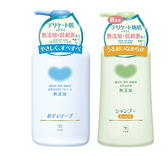 日本牛乳石鹼COW 植物性無添加洗髮精(綠)500ml+沐浴乳(藍)500ml