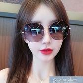 墨鏡偏光防紫外線墨鏡女韓版ins新款太陽眼鏡網紅圓臉大臉顯瘦潮 快速出貨