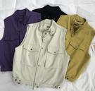 牛仔外套 寬鬆BF立領工裝馬甲女2020秋季新款韓版百搭寬鬆顯瘦無袖背心外套 琪朵市集