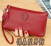 手包女2020新款簡約時尚氣質牛皮軟皮手拿手拎手機零錢包小包 傑森型男館