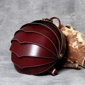 真皮後背包(大款)-純色牛皮甲殼蟲個性男女雙肩包3色73vz24【時尚巴黎】