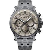 【台南 時代鐘錶 POLICE】義式潮流 Taman 三眼日期腕錶 15920JSQU-20M 古銅/灰 46mm