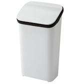 【日本 RISU】Smooth按壓式緩衝功能垃圾桶19L -白色