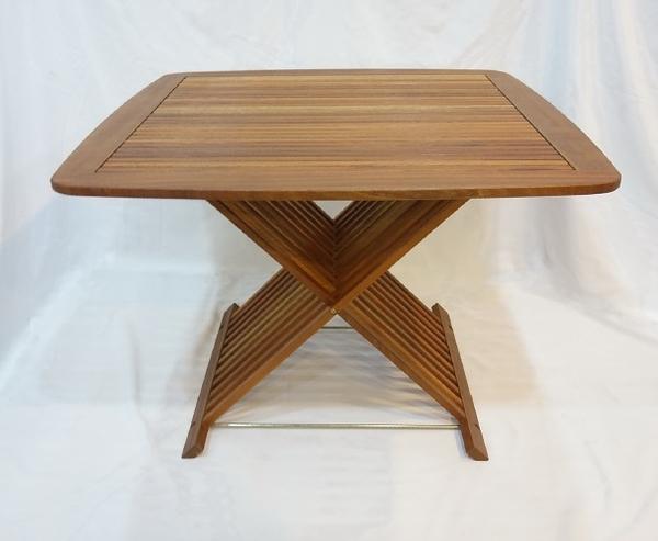 【南洋風休閒傢俱】戶外休閒桌椅系列-106公分實木方桌   戶外實木餐桌  適庭院(#106T)