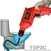 家用通下水道疏通器神器電動全自動專業捅馬桶廚房堵塞彈簧機工具igo「Top3c」