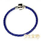 今生金飾   藍色皮手鍊