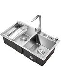 水槽雙槽 304不銹鋼廚房洗菜盆手工洗碗池洗菜池水池洗碗槽  ATF  全館鉅惠