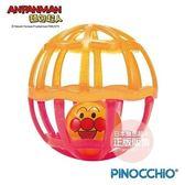 日本 麵包超人 - 附吊帶嬰兒搖搖球中球(橘粉配色)