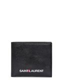 YSL Saint Laurent 聖羅蘭 LOGO設計 小牛皮 對折短夾