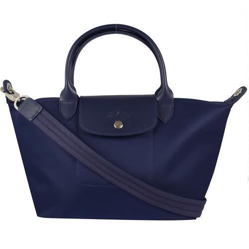 茱麗葉精品 全新精品 法國Longchamp Le Pliage Neo 折疊厚尼龍兩用包.深藍 M #1512