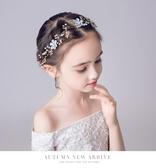 髮飾新款兒童頭飾手工珍珠髮箍公主唯美皇冠花環女童演出拍照寫真配飾- 限時特惠