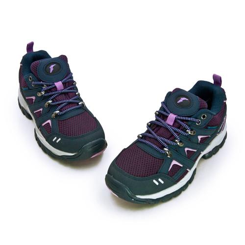 LIKA夢 GOODYEAR  固特異專業多功能郊山戶外越野防水健行鞋 W1山行者系列 藍紫 92427 女