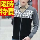 長袖毛衣創意原創-合身剪裁頂級假兩件式男襯衫 2色59ac45【巴黎精品】