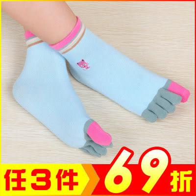 可愛貓咪繽紛五指襪 超柔纖維糖果色襪 (1雙入)【AF02183】大創意生活百貨