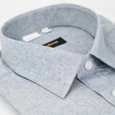 【金‧安德森】灰色漸層格紋窄版長袖襯衫