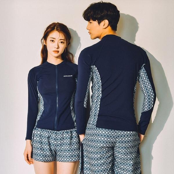 【現貨】梨卡 - 男款加大尺碼多件式長袖三件式衝浪衣潛水服泳衣套裝泳裝泳衣CR675