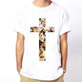 Cross Cat短袖T恤-白色 十字架貓動物可愛相片潮流趣味幽默玩翻 390 gildan fruit anvil