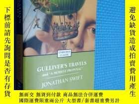 二手書博民逛書店Gulliver s罕見Travels and a Modest Proposal (Enriched Class