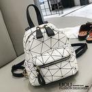 *UOU精品*韓國時尚款 小包包雙肩包簡約幾何圖案後背包個性簡約手提包‧3色【T272】
