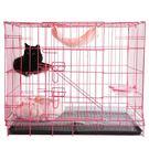 寵物籠 貓籠子二層雙層便攜外出大號貓籠子...