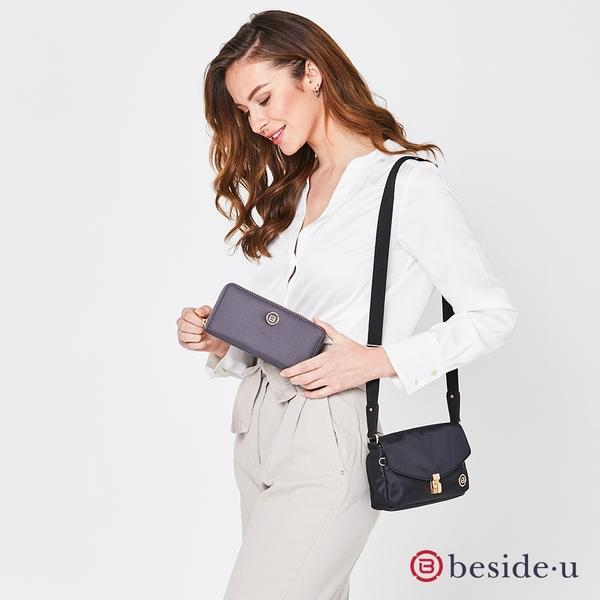 beside u BNUAS 日本限定款 防盜刷全RFID簡約設計女夾長夾皮夾-紅色、黃色、黑色、藍色 原廠公司貨
