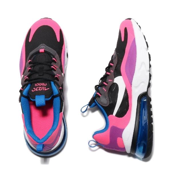 【五折特賣】Nike 慢跑鞋 Air Max 270 React GS 黑 粉紅 大氣墊 運動鞋 女鞋 大童鞋【ACS】 BQ0101-001