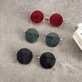 韓國chic原宿風眼鏡女復古金屬圓框太陽鏡圓臉網紅同款時尚墨鏡潮 范思蓮恩